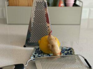 Feine Reibe mit Zitrone
