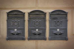 Edelstahl Doppelbriefkasten